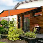 Pergola Markise von Markilux in orange